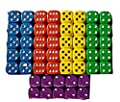 50 Good Quality Dice 14mm 10 each of 5 colours from Tarquin Publications