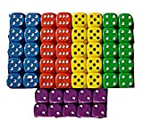 50 Good Quality Dice 14mm 10 each of - Best Reviews Guide