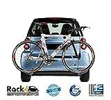 2Fahrräder Rack für Smart ForTwo 451Cabrio–Coupe (Silber)