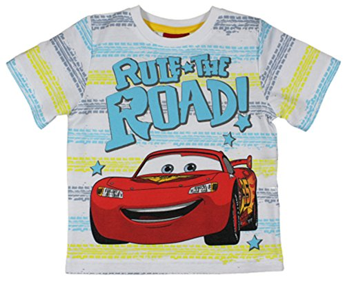 Image of Disney Cars Lightning McQueen Boys Short / Long Sleeved T Shirt - Ages 2 - 9 Years