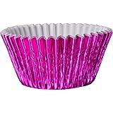 56 Classikool Metallic Pink Foil Greaseproof Cupcake Baking Cup Cake Cases [FREE UK Post]
