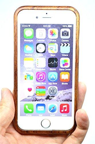 RoseFlower(TM) iPhone 6 (4,7 Zoll (11,9 cm) Holzhülle - Kirsche Holz indische Buddha - NatürlicheHandgemachteBambus / Holz Schutzhüllemit Kostenlose Displayschutzfolie für Ihr Smartphone RosenholzKreuz