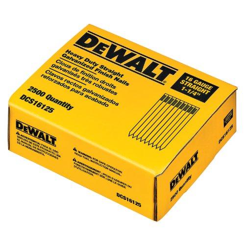 Dewalt dcs161251-1/4-Zoll von 16Gauge Finish Nail (2.500Pro Box)