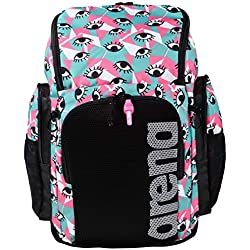 ARENA 45 Backpack Mochila de natación 45L Team Allover, Unisex Adulto, Eyes, TU