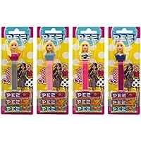 PEZ set de dispensadores Barbie (4 dispensadores con 3 recargas de caramelos PEZ de 8,5g c/u) + 2 paquetes de.
