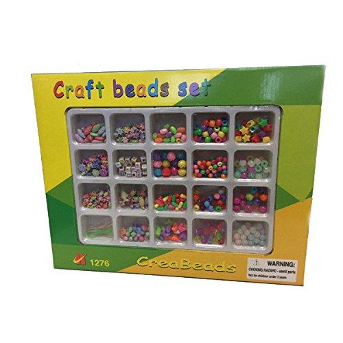 Bastelset für Kinder | craft beads set | Ketten und Armbaender | Plastik | verschiedene Farben und Formen