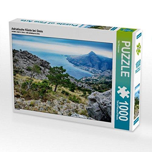 Adriatische Küste bei Omis 1000 Teile Puzzle quer (CALVENDO Orte)