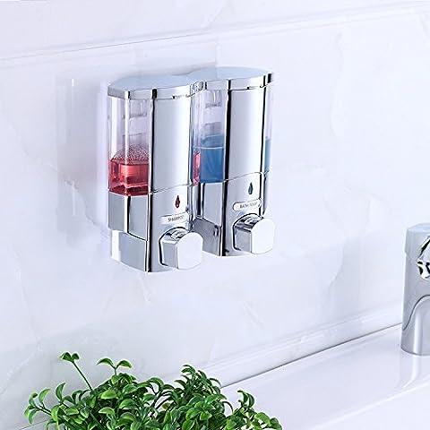 Tougmoo appareil hydraulique de salle de bain à fixation murale simple ou double tête J-box de savon liquide Distributeur de savon pour liquide, double