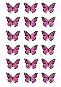 18 roses Monarch papillon comestible topper décorations de gâteau