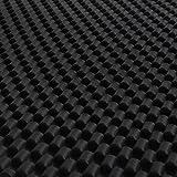 JVL Carbon Luxury Universal Rubber Car Mat Set, Black, 4 Pieces