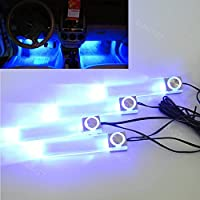 4 LED Car Interior Decorative Floor Dash Atmosfera lampada ricarica per accendisigari