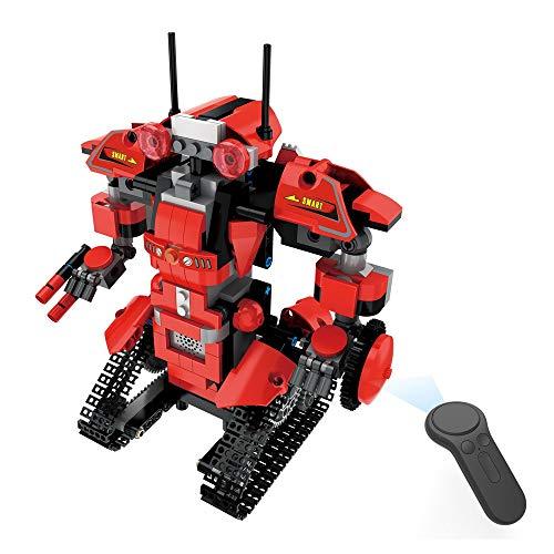 Igemy Kinder DIY Bausteine RC Intelligenten Roboter Elektronischen Roboter STEM Spielzeug (Rot)