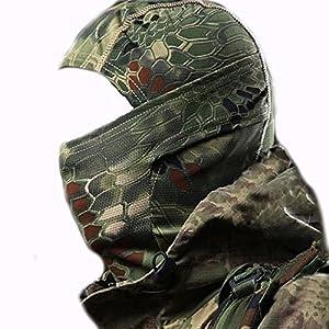 inGun© Cagoule Airsoft Militaire Cagoule camouflage Multi-fonction Bandeau pour Airsoft Chasse ou Déguisement