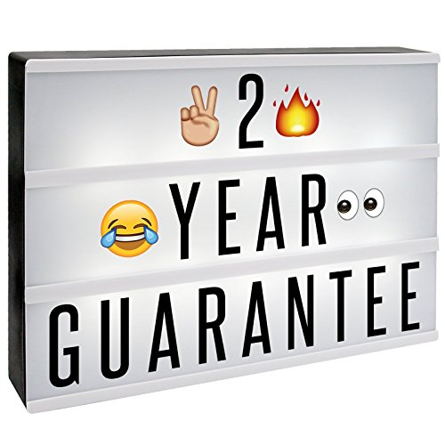 A4 Cinematic Lightbox 170 Emoji/Letters & Free USB Cable M&W Lightbox [UK-Import]