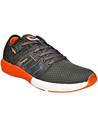 Campus Men's Gray And Red Running Shoes (Battle 3G-478)