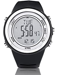 EZON H009A15 Relojes de escalada a prueba de agua con reloj alarma altímetro barómetro termómetro y cronómetro Negro