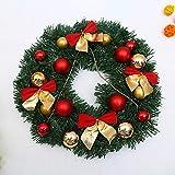 SPFAZJ Kranz Weihnachtskranz Adventskranz Fenster schmücken Weihnachtsdekoration Tür hängende Teng Bar Veranstaltungsort Dekoration Prop S