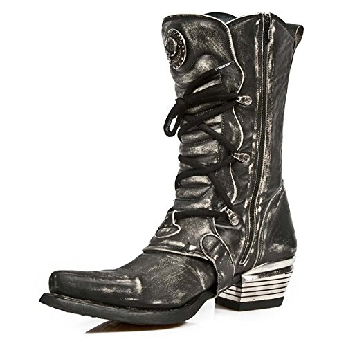 New Rock Dallas nero Pelle Stivali M.7993-S3 Black