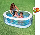 Bavaria Home Style Collection Planschbecken Badespaß Schwimmbad Pool Planschbecken Kinderpool Babypool Baby Pool Schwimmingpool Kinderplanschbecken - OVA - Piraten - ca. 163 x 107 x 46 cm