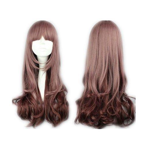 COSPLAZA Cosplay Wigs Kostueme Peruecke Harajuku Lolit 60cm lang gelockt Braun Anime Show Fasching Karneval Haar (Perücken Harajuku)