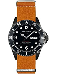 University Sports Press EX-D-MBB-40-NL-OR - Reloj de cuarzo unisex, correa de cuero color naranja