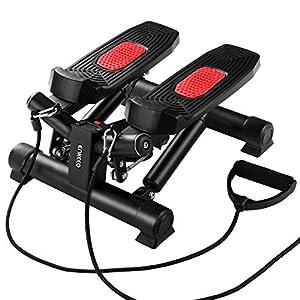ENKEEO Mini Stepper Twister Up-Down-Stepper Drehstepper & Sidestepper, Benutzergewicht bis 120kg mit Verstellbare Widerstand für Fitness-, Heim-, Bauch- und Beinetraining, 40 x 37,5 x 25 cm