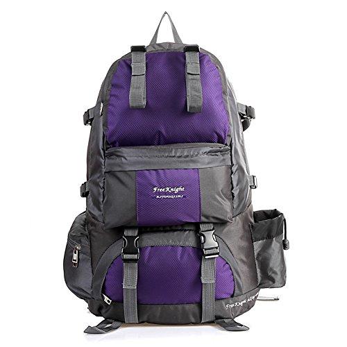 Etach 50L grande capacità zaino sport all' aperto Borsa impermeabile coppia alpinismo, Red Purple