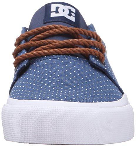 DC TRASE TX SE J SHOE PRB, Low-Top Sneaker donna Blue/Brown/White