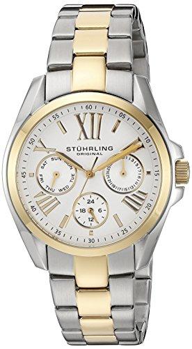 Stuhrling Original - 494.02 - Montre bracelet - Quartz - Affichage - Analogique - Bracelet - Acier inoxydable - Bicolore - Cadran - Argent - Femme