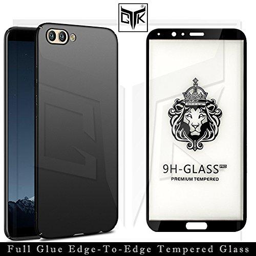 TheGiftKart Honor View 10 Tempered Glass + Back Cover – Full Glue Edge-to-Edge Tempered Glass + Velvet Feel Hard Cover