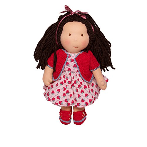 Emilia - Puppen Waldorfpuppe Handarbeit Bio Natur 40cm Stoffpuppe Walkiddy