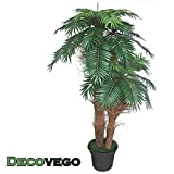 Decovego Palme Palmenbaum Königspalme Cocospalme Kunstpflanze Kunstbaum Künstliche Pflanze Echtholz 170cm