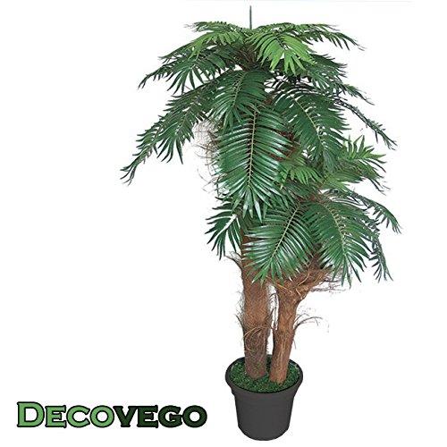 Palme Palmenbaum Königspalme Cocospalme Kunstpflanze Kunstbaum Künstliche Pflanze Echtholz 170cm Decovego