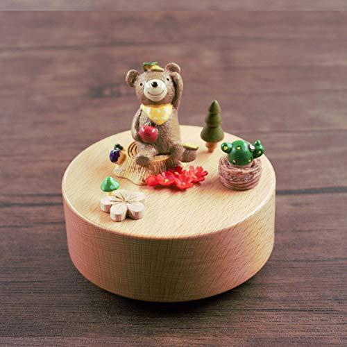 Karussell Musik-Box Für Kinder,Kreative Cute Manuelle DIY Anmelden Farbe Kleine Bärchen Essen Apple Form Music Box Drehen ≪Stadt Der Himmel & Gt; Melodie Geburtstagsges