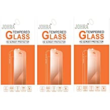 Johra Pack of 3 9H HD+ Real Tempered Glass Screen Scratch Guard Protector For Samsung Galaxy A3 (2016)