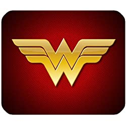 Leonardcustom- personnalisé rectangle en caoutchouc antidérapant Tapis de souris gaming mouse pad/Tapis Marvel super-héros Wonder Woman - Lcmpv679
