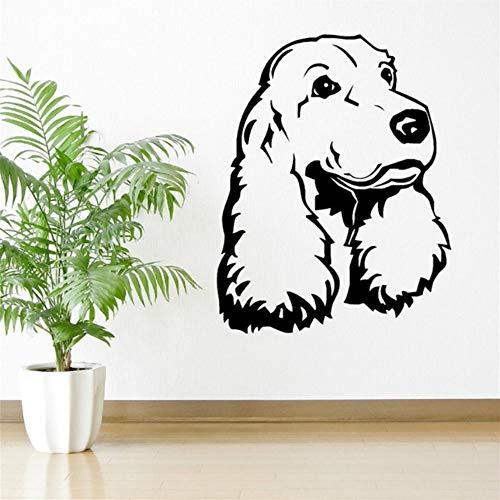 Qqasd Cocker spaniel hund vinyl wandkunst zimmer aufkleber aufkleber tier themen Kinderzimmer wandaufkleber dekoration 45x57 cm
