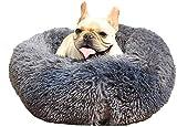 Marshmallow rotonda letto abbastanza, super morbido peluche ciambella Abbraccio rotonda Kennel Bed Lavabile in lavatrice fondo antiscivolo Pet Calmante Focolaio, adatto for piccole e medie Cani E Gatt