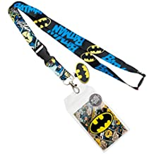 acf84022a DC la3mnibtm Comics Batman Retro cordón con Logo colgante