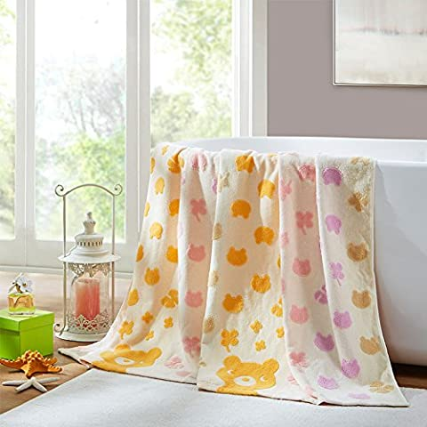 BDUK Los niños a lo largo de toallas de algodón y Cartoon Niños Niño divertido almuerzo mantas de algodón puro sola manta mantas delgadas