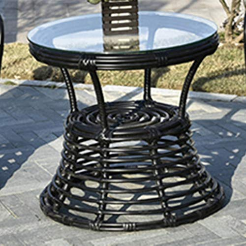 seeksungm Chair, table, Indoor and Outdoor Leisure rotin Table And Chair, Environmentally Friendly and Breathable, handmade PE rotin Woven rotin Table And Chair Table