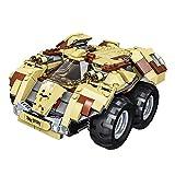 WJBK Blocs de Construction télécommandés pour Enfants Jouets pour véhicules à chenilles Militaires Petites Particules assemblées Voiture de Course Puzzle Puzzle (Couleur : Le Jaune)