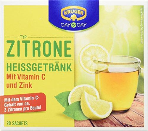 Vitamin C Zitrone (Krüger Citrone Heiss /Kaltgetränk, 5er Pack (5 x 160g Packung))