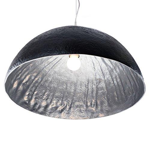 DESIGN DELIGHTS Lampe de Plafond « Moonrais » en Fibre de Verre, Noir/Argent, Ø 50 cm