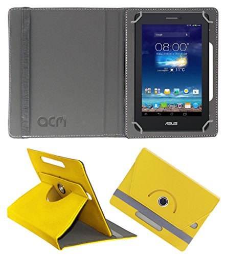Acm Rotating 360° Leather Flip Case for Asus Fonepad 7 Me175cg-1b010a Cover Stand Yellow  available at amazon for Rs.149