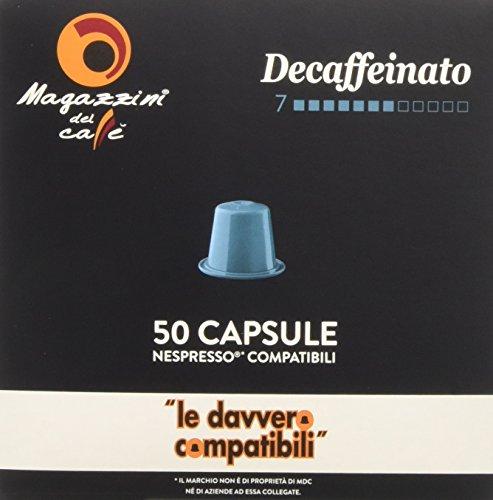 Magazzini del caffè, 200 capsule compatibili nespresso - miscela decaffeinato intensità 7 - 1320 g