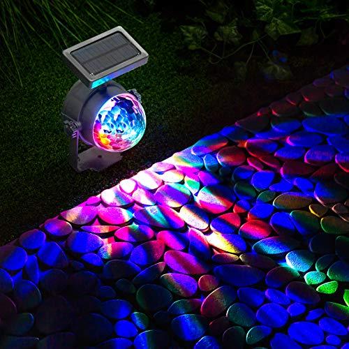 GloBrite Solarbetriebene LED-Strahler mit Farbwechsel, für Garten und Partys