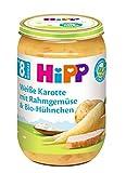 HiPP Menüs ab 8. - 10. Monat Weiße Karotte mit Rahmgemüse und Bio-Hühnchen, 6er Pack (6 x 220 g)