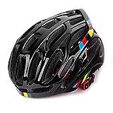 MOTTEN Casco da bicicletta modellato integrale da bici da mountain bike retroilluminato da uomo nero glassato