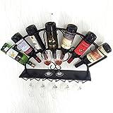 LLOOP Porta Bicchiere da Vino Portabottiglie Sospensione a Muro Appeso Capovolto Calice armadietto portalattine Portabicchieri Bottiglie Multiple Scaffale per la casa Cantina per Vino (Colore : A)